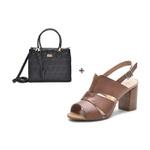 Kit Sandália Feminina DeR Shoes Em Couro Legítimo Daisy Whisky