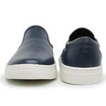 Sapato Slip On Masculino Couro marinho