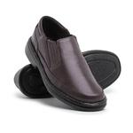 Sapato Masculino Conforto em Couro Carneiro Legitimo Luflex Cafe