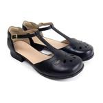 Sapato Feminino em Couro Couro Preto