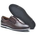 Sapato Casual Masculino NV Couro Legitmo Cafe