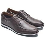 Sapato Casual Masculino NV Couro Legitimo Cafe