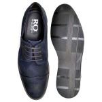 Sapato Casual Masculino em Couro Camurça Marinho