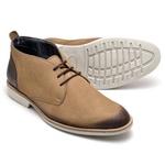 Sapato Masculino Oxford em Couro Legitimo Bege