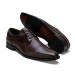 Sapato Social Masculino Stable Texturizado Ee Couro legitimo Café