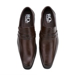Sapato Social Masculino Stable Fechado em Couro Legitimo Café