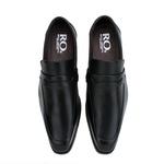Sapato Social Masculino Stable Fechado em Couro Legitimo Preto