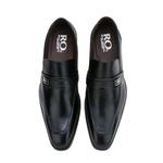 Sapato Social Masculino Fechado em Couro Legítimo Preto