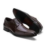 Sapato Social Masculino Stable Elegance Em Couro Café