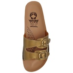 Sandália Conforto Dourada 2 Fivelas