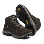 Bota Adventure Casual Couro Nobuck Hiking Extreme Bell Boots - 900 - Café