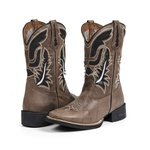 Bota Country Texana Masculina Couro Mad Dog Fakcini - 2209 - Café