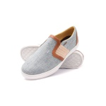 Sapatênis Tênis Iate Casual Slip On Destroyed Jeans Sirius Gshoes - 1142-1 - Light Whisky