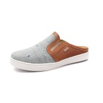 Sapato Mule Babuche Masculino Destroyed Jeans Paris GShoes - 165-1 - Jeans Claro Whisky