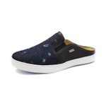Sapato Mule Babuche Masculino Destroyed Jeans Paris GShoes - 165 - Dark Blue