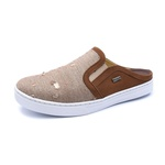 Sapato Mule Babuche Masculino Destroyed Jeans Paris Gshoes - 165-8 - Marrom Whisky