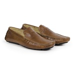 Mocassim Drive Masculino Couro Legítimo Soft Leather Exclusive Reverso - 1800 - Whisky