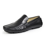 Mocassim Drive Masculino Couro Legítimo Soft Leather Exclusive Reverso - 1800 - Preto