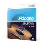 Encordoamento Violão Aço .011 D'Addario Silk & Steel EJ40