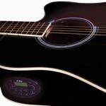 Violão Di Giorgio Genesis Black - Cordas de Aço, Eletroacústico, Folk Cutaway