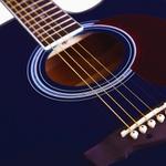 Violão Di Giorgio Genesis Blue - Cordas de Aço, Eletroacústico, Folk Cutaway