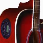 Violão Di Giorgio Genesis SunBurst - Cordas de Aço, Eletroacústico, Folk Cutaway