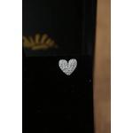 Brinco Coração todo cravejado com Micro Zircônia no Banho de Ródio