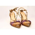 Sandália Amarração Dourada - Luiza Barcelos
