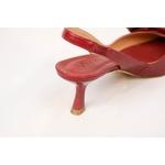 Scarpin Vermelho Laço com Salto Baixo - Vicenza