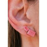 Brinco Ear Cuff Living Coral No Banho de Ródio
