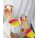 Sandália Salto Alto Com tiras Coloridas - Vicenza