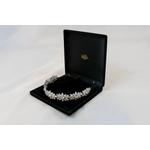 Tiara Luxo Floral com Cristal No Banho de ródio