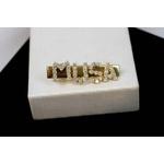 Presilha de Cabelo MUSA Cravejada Cristal no Banho de Ouro 18k