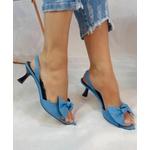 Sandália Cartagena Azul Salto Taça Pequeno - Vicenza