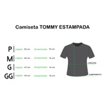 Camiseta importada TH - mescla