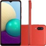Smartphone Samsung Galaxy A02 32GB 2GB RAM - Vermelho