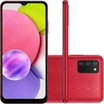 Smartphone Samsung Galaxy A03s 64GB 4G Dual Chip 4GB RAM - Vermelho