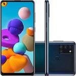 "Smartphone Samsung Galaxy A21s 64GB Dual Chip Android 10 Tela 6.5"" Octa-Core 4G Câmera Quádrupla 48MP+8MP+2MP+2MP - Preto"