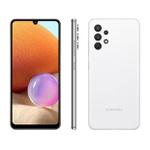 indica Smartphone Samsung Galaxy A32 128GB 4G Wi-Fi Tela 6.4'' Dual Chip 4GB RAM Câmera Quádrupla + Selfie 20MP - Branco