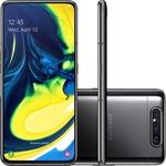 """Smartphone Samsung Galaxy A80 Preto 128GB com Tela Infinita de 6.7"""", Câmera Tripla Rotativa, 8GB RAM, Android 9.0, Dual Chip e Processador Octa-Core"""