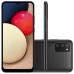 Smartphone Samsung Galaxy A02s 32GB 4G Wi-Fi Tela 6.5'' Dual Chip 3GB RAM Câmera Tripla + Selfie 5MP - Preto
