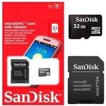 Cartão de Memória Micro SD 32GB SanDisk Ultra 48MB/s + Adaptador