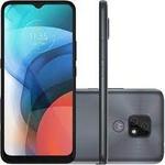 "Smartphone Motorola Moto E7 32GB Cinza Metálico - 4G Octa-Core 2GB RAM 6,5"" Câm. Dupla + Selfie 5MP"