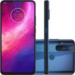 "Smartphone Motorola One Hyper 128GB Dual Chip Android Tela 6.5"" Qualcomm Snapdragon 4G Câmera 64MP + 8MP - Azul Oceano"