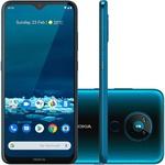 "Smartphone Nokia 5.3 128GB Dual Chip Android 10 Tela 6.55"" Octa Core Câmera 13MP+5MP+2MP+2MP Frontal 8MP- Verde Ciano"