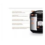 Panela de Arroz Gourmet - 127V - 700W - Capacidade de 10 xícaras - Preto com Acabamento Inox - Multilaser