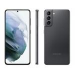 """Smartphone Samsung Galaxy S21 5G Cinza 128GB, 8GB RAM, Tela Infinita de 6.2"""", Câmera Traseira Tripla, Android 11 e Processador Octa-Core"""