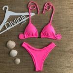 Biquíni Ibiza Rosa Claro Texturizado