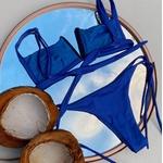 Biquíni Vanessa Azul Bic Cintilante