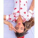 Pijama Nelly Branco Corações
